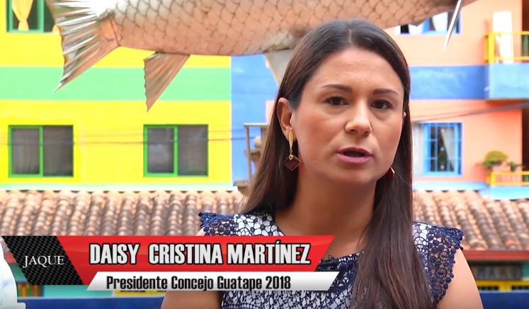Jaque 22, invitada Daisy Cristina Martínez, presidente Concejo Guatapé 2018