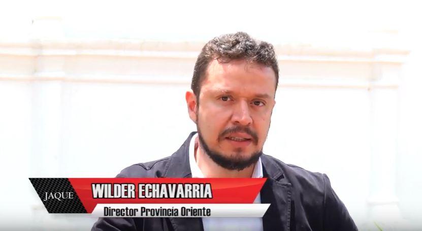 JAQUE 27, invitado director Provincia aguas, bosques y turismo, Wilder Echavaría Arango